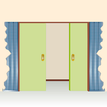 estructura para puertas correderas dobles orchidea basic xxcms